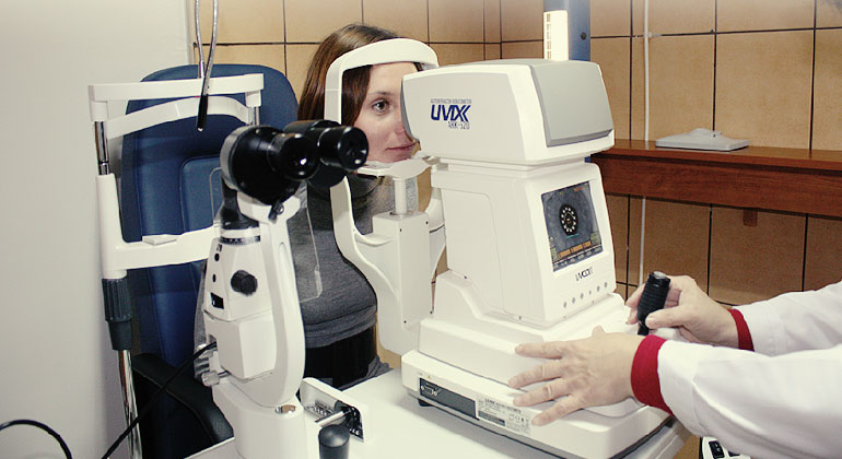 okulista - badanie wzroku