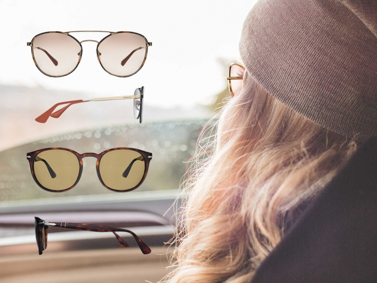 Okulary przeciwsłoneczne jesienią